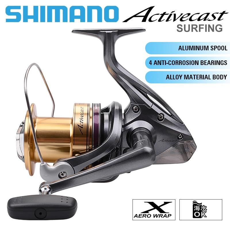 [해외] 시마노 ACTIVECAST Surfcast 낚시 릴 1050 1060 1080 1100 1120 3.8:1Low-Profile 바닷물 해변 스피닝 릴 낚시 코일