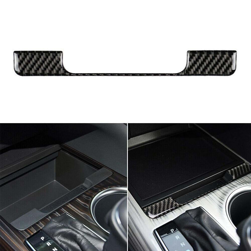For Toyota Camry 2018 2019 Inner Storage Box Frame Strip Cover Trim Sticker Decor Carbon Fiber Interior Mouldings Car Styling