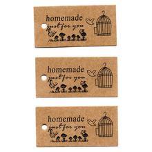 ZERZEEMOOY wholesale DIY ZAKKA homemade Kraft paper tags bookmark mood message card butterfly cage 100pcs/lot57x28x0.3mm