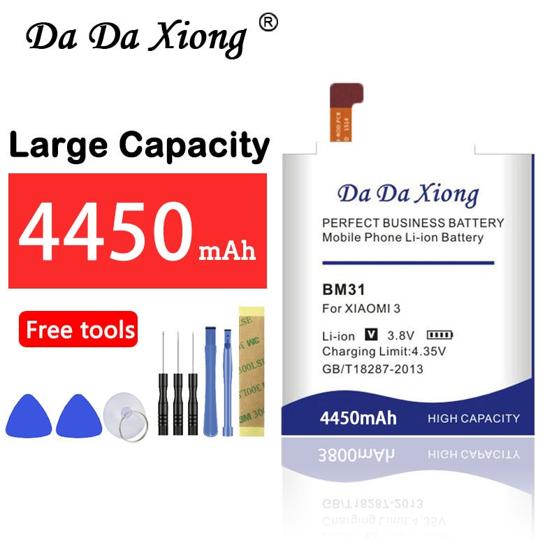 High capacity Replacement 4450mAh BM31 Battery for  Xiaomi 3 M3 Mi3 Xiaomi3