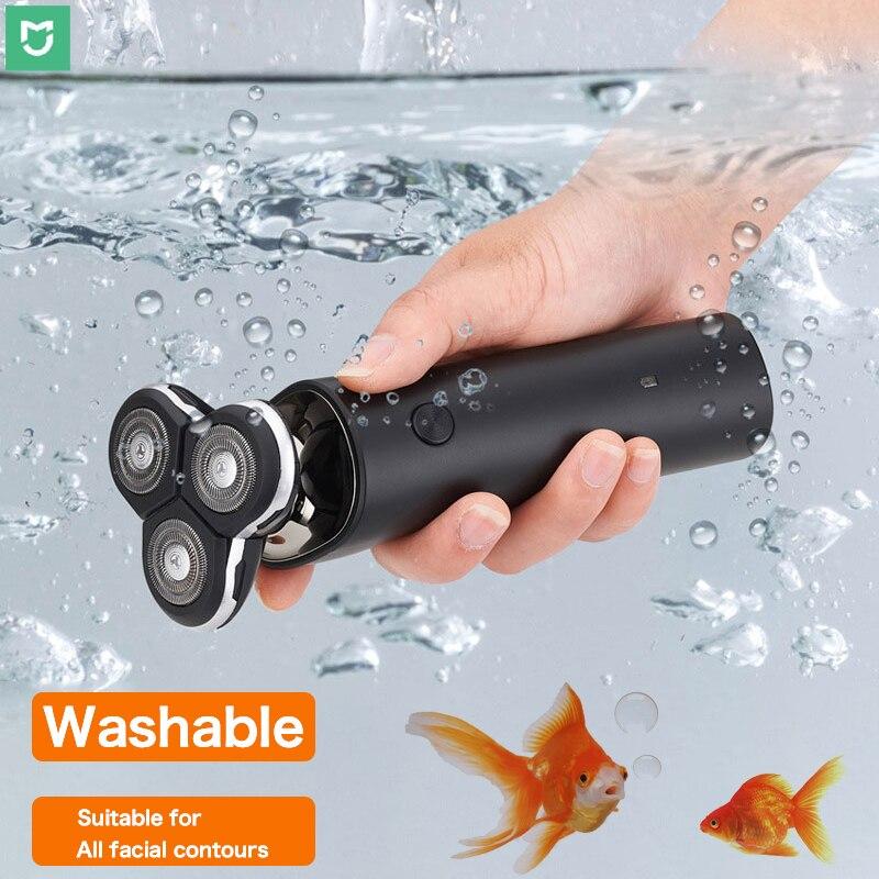 Mijia S300 ماكينة حلاقة IPX7 مقاوم للماء الكهربائية باربا ماكينة حلاقة ثلاثية الأبعاد العائمة مزدوجة شفرة USB شحن الذكية ماكينة حلاقة للرجال الحلاق...