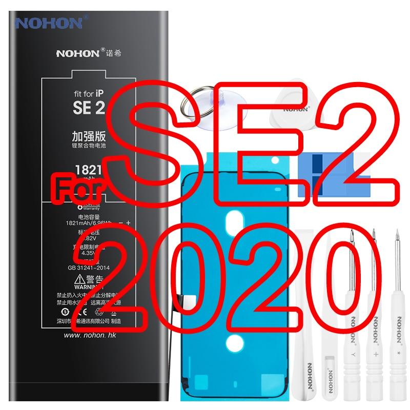 Nohon-بطارية ليثيوم بوليمر عالية السعة لأجهزة iPhone SE 2020 ، الجيل الثاني ، SE2 ، 1821 مللي أمبير ، مع الأدوات