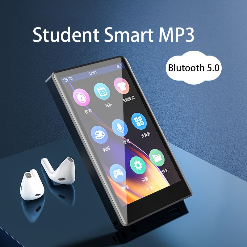 New MP4 Player Bluetooth5.0 with 4 inch Full Touch Screen Built-in Speaker Support FM Radio Recording Video E-book enlarge