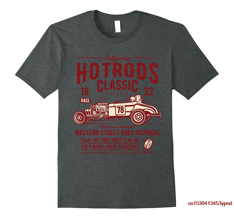 Мужская футболка Hot rod racing, Классические винтажные футболки с принтом «Старый хот-род», розовая Женская рубашка