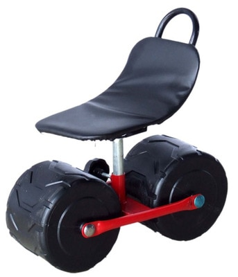 2 Wheels Garden Carts  Garden Tool Planting Picking Stool Comfortable PU Sponge Seat Pad Moving Chair Garden Supplies