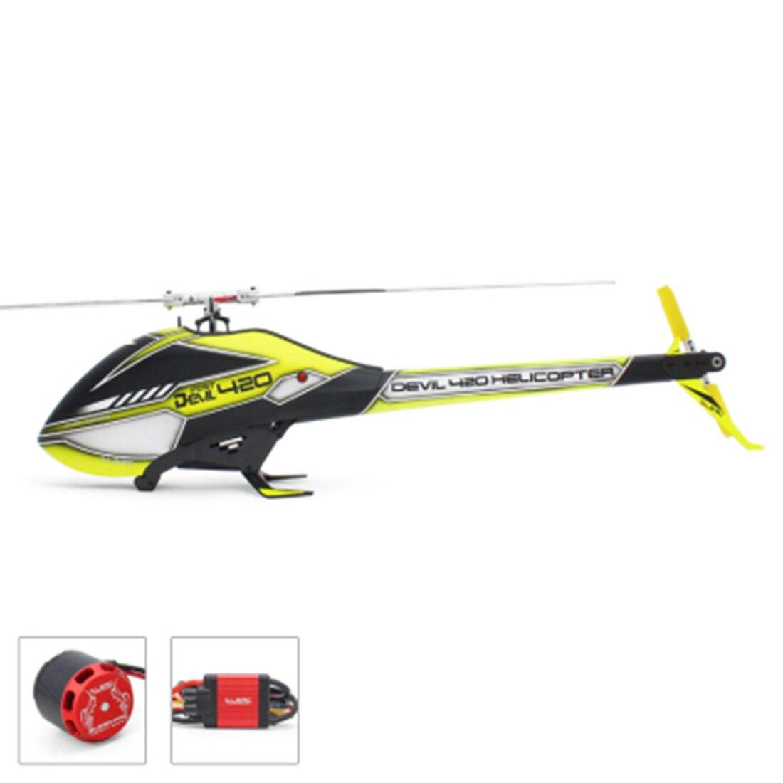 ALZRC-diablo 420 rápido FBI Combo con 60A V4 platino sin escobillas ESC/3120-PRO 1000KV Motor sin escobillas para helicóptero RC 420