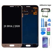 Pour Samsung Galaxy J3 2016 J320 J320A J320F J320M écran LCD avec écran tactile numériseur assemblée peut être ajuster la luminosité