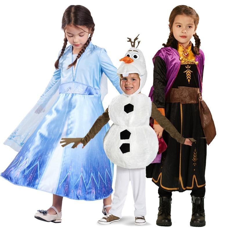 Disfraz-Disfraz De princesa Elsa y Anna, Vestidos infantiles para niñas, vestido De...