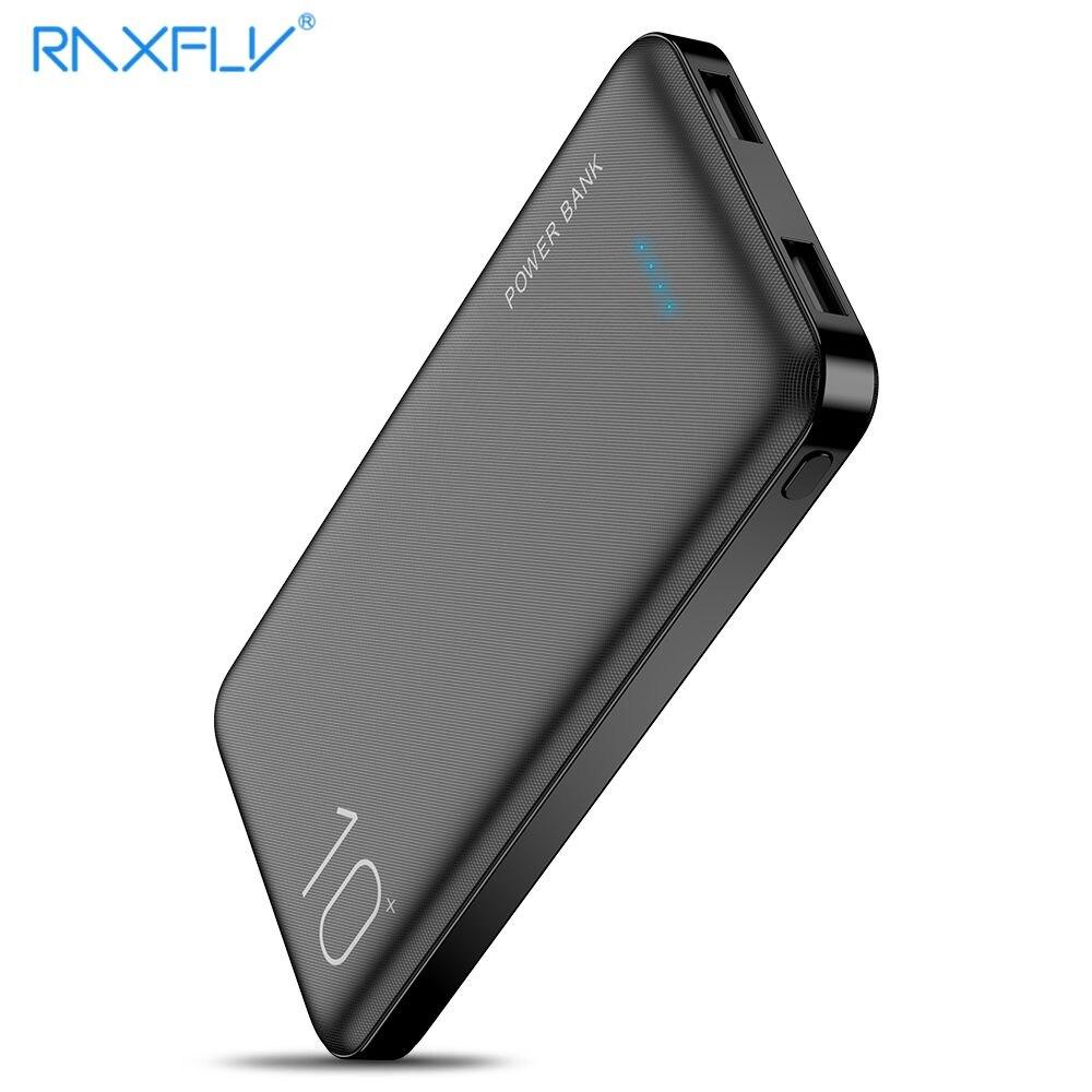 Портативное зарядное устройство RAXFLY 10000 мАч с двумя usb-портами для быстрой зарядки iPhone 11 7, зарядные устройства для путешествий для Samsung S10, внешний аккумулятор