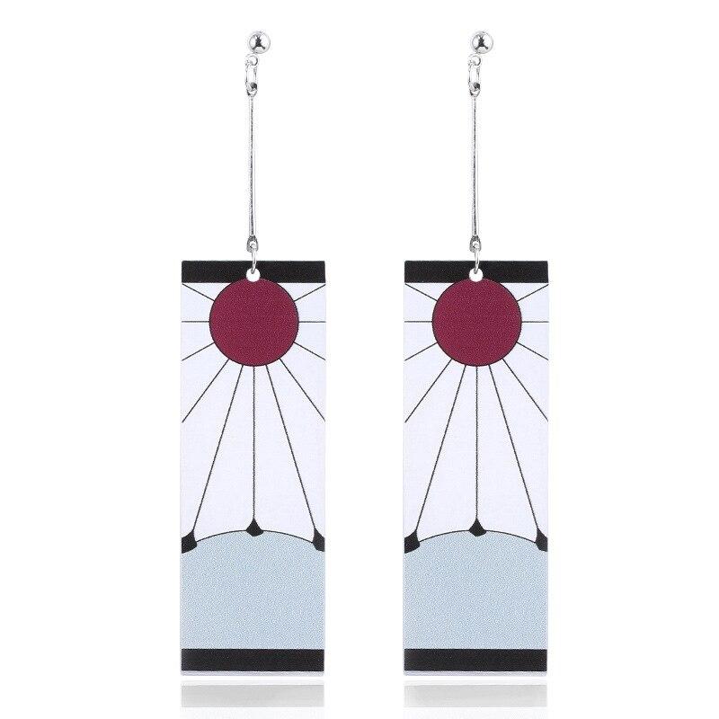 Аниме акриловые висячие серьги демон Slayer Kimetsu no Yaiba Blade of Ghost Earings для женщин и мужчин косплей ювелирные изделия аксессуары подарок