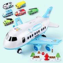 Music Story Simulation Track Inertia Children's Toy Aircraft Large Size Passenger Plane Kids Airline
