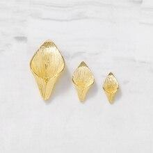 6 pièces 8x14MM 10x19MM 16x29MM 24K couleur or plaqué laiton lys fleur perles casquettes gland casquettes haute qualité bijoux accessoires
