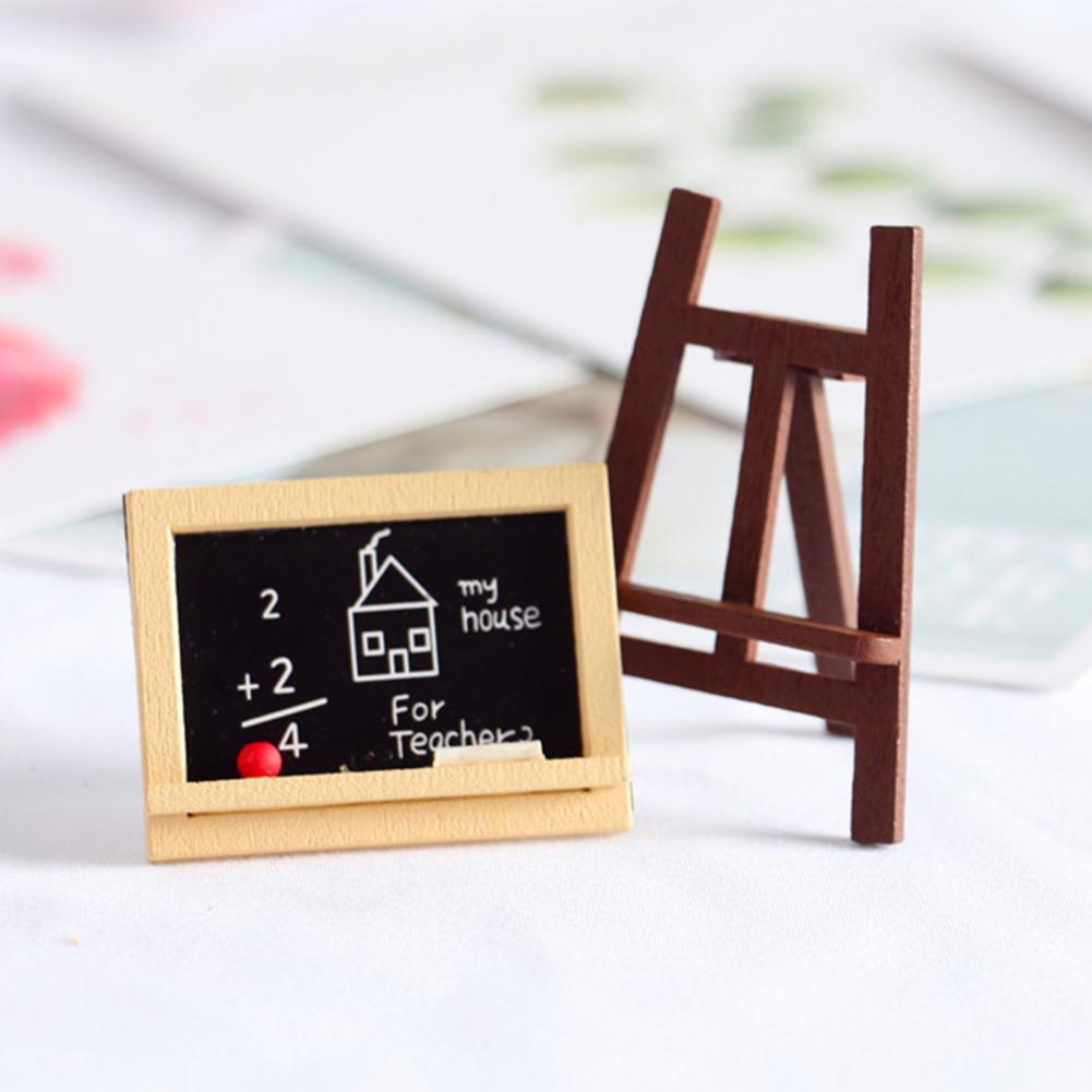 Simulation Easel Drawing Board Gallery Scene Dollhouse Decor Kids DIY Craft Gift Dec