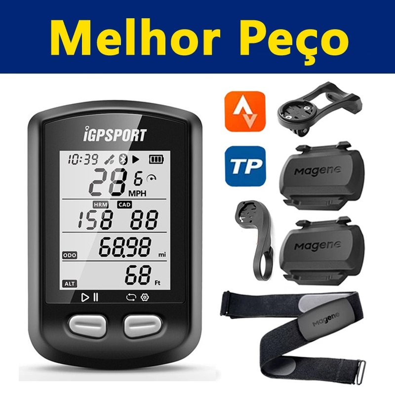 Wireless Bike Odometer GPS Bicycle Computer IGPSPORT IGS10S Magene S3+ Cadence H64 Heart Rate Monitor Strava Cycling Speedometer