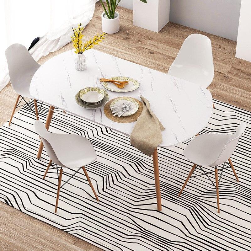 خشب متين طاولة طعام بسيطة المنزلية طاولة طعام رخامي طاولة طعام مستطيلة العملي طاولة طعام