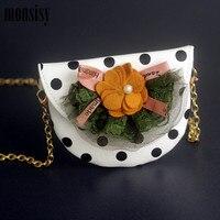 Monsisy 2020 New Girl Bag Purse and Handbag Children Wallet Kid Shoulder Bag Cute Dot Mini Crossbody Bag Baby Small Coin Bolsas