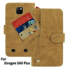 Vintage Leather Wallet Doogee S88 Plus Case 6.3