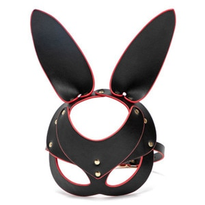 loveliness Rogue rabbit head cover stage performance props alternative sex toys long ears rabbit mask adult performance props
