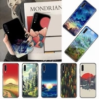 art minimalist painting mountain phone case for samsung galaxy a s note 10 7 8 9 20 30 31 40 50 51 70 71 21 s ultra plus