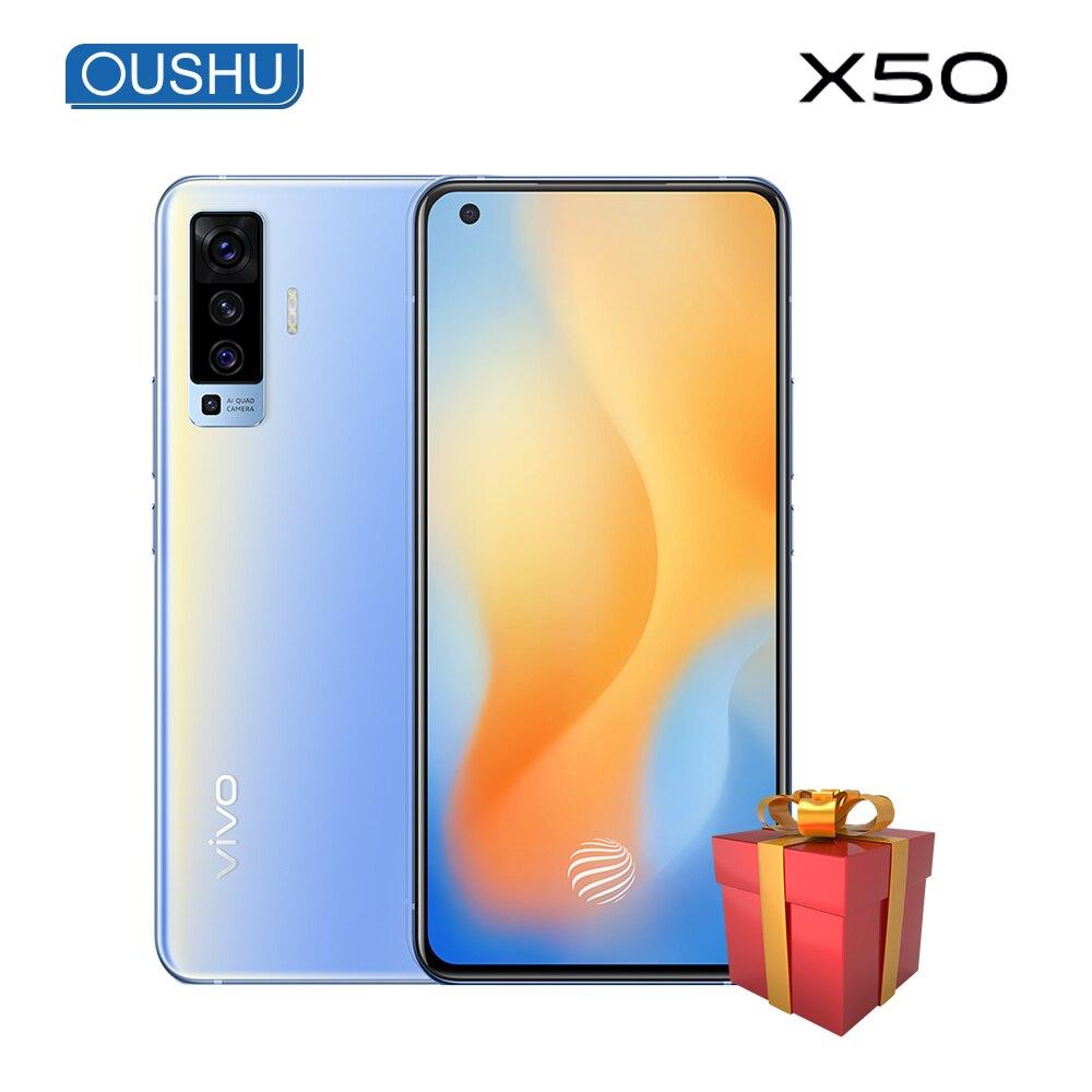 Original 5G vivo x50 6,56 AMOLED poro pantalla 48.0MP Smartphone 4200mAh 33W Dash Charge 20x SuperZoom NFC 8GB 128GB teléfono móvil