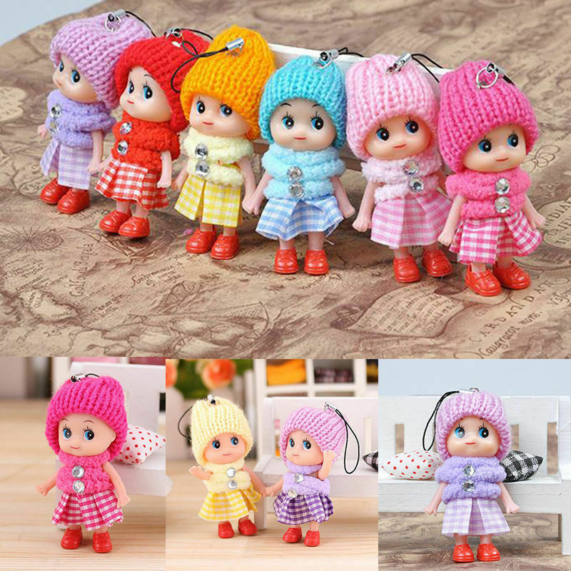50pcs Kids Toys Interactive Baby Dolls Toy Mini Doll For Girls And Boys Reborn Doll Toy Gift For Children Cute Key Small Pend cute resin bride and bridegroom toy doll