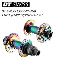 new 2021 original colorful dt swiss 240 mtb bicycle classic pull wheel hub 32h 6 pin disc brake front 110 15 rear 14812