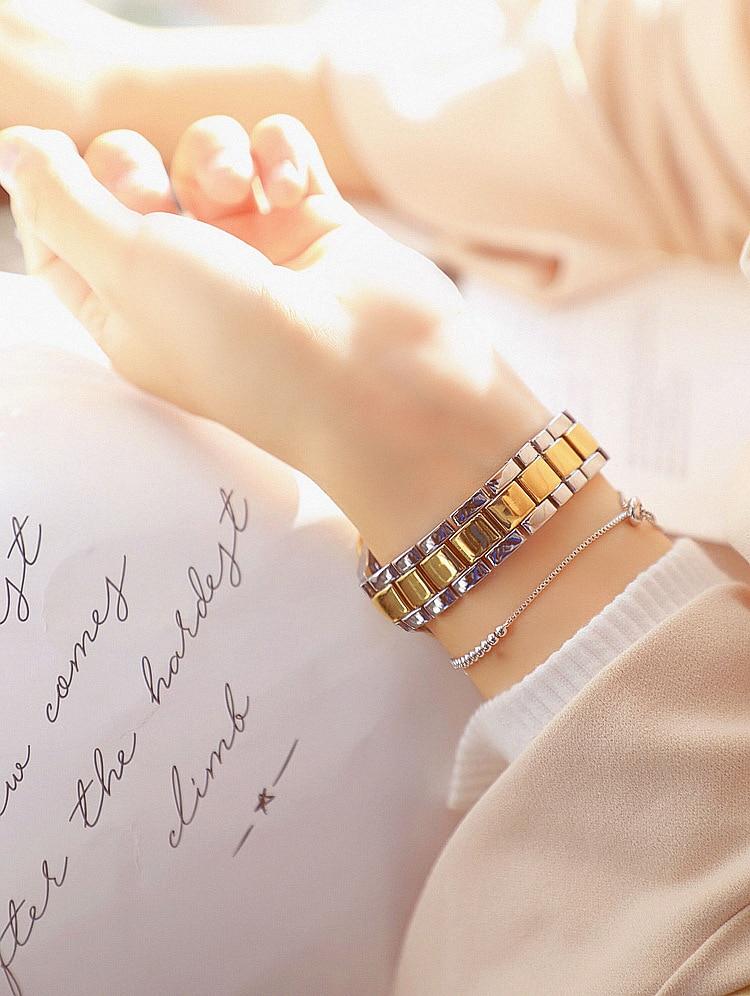 часы женские Summer New Casual Fashion Literary Girl Watch часы Inlaid Diamond Busine
