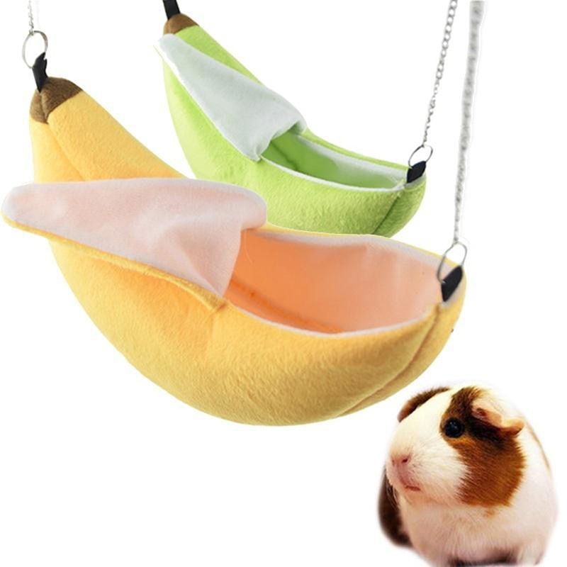 Hamster cotton nest banana Shape House Hammock Bunk Bed House Toys Cage For Sugar Glider Hamster Sma