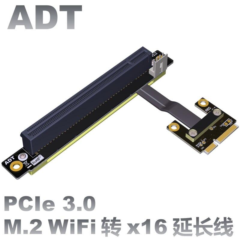 O cabo de extensão de wifi mpcie da relação da placa de rede sem fio é transferido para o cabo de extensão pcie x16 para a placa de transferência