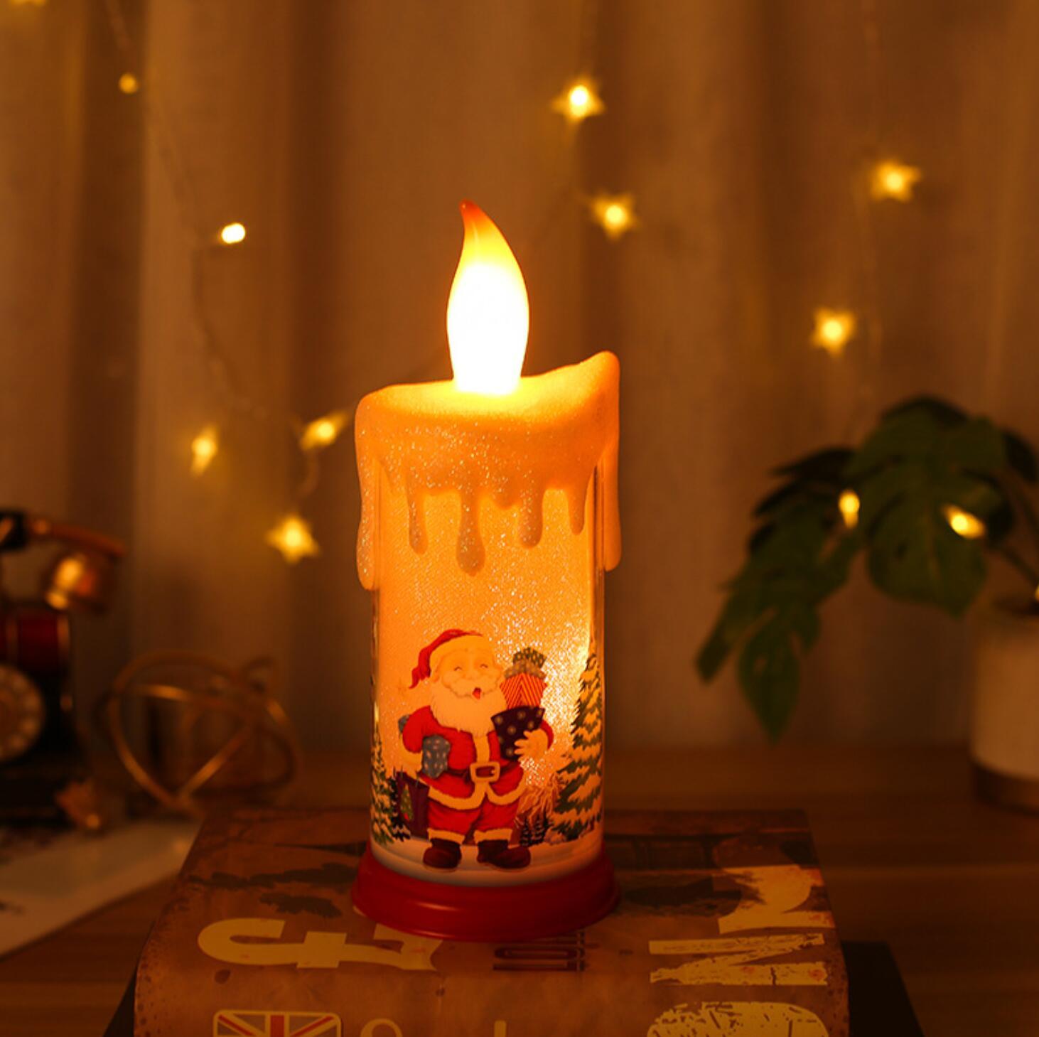 شمعة الإلكترونية محاكاة شمعة مصباح الليل عيد الميلاد الإبداع