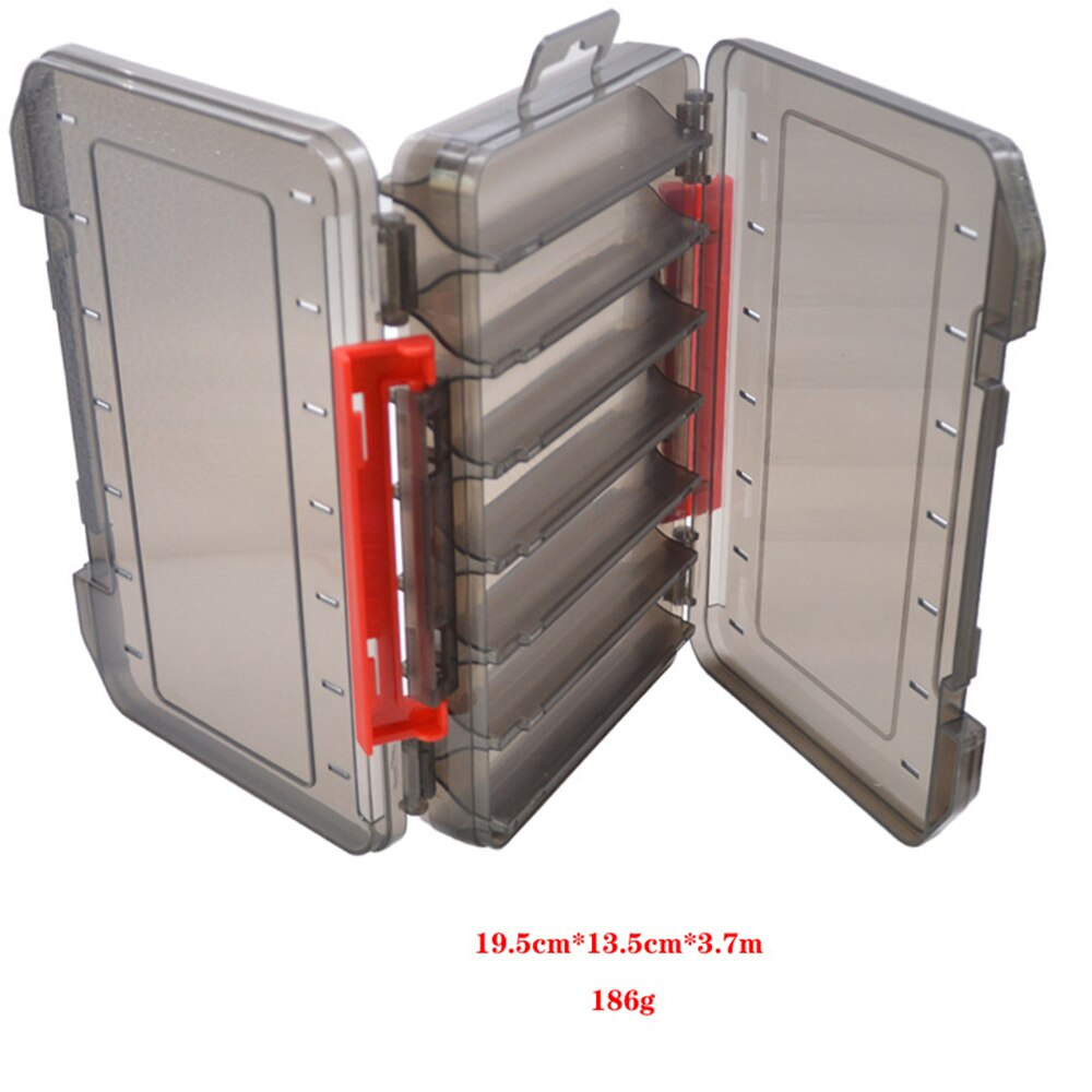 12&14 Room Double Sided Reversible Lure Case  Plastic Bait Jig Storage Box High Strength Fishing Tackle Accessory Boxes enlarge