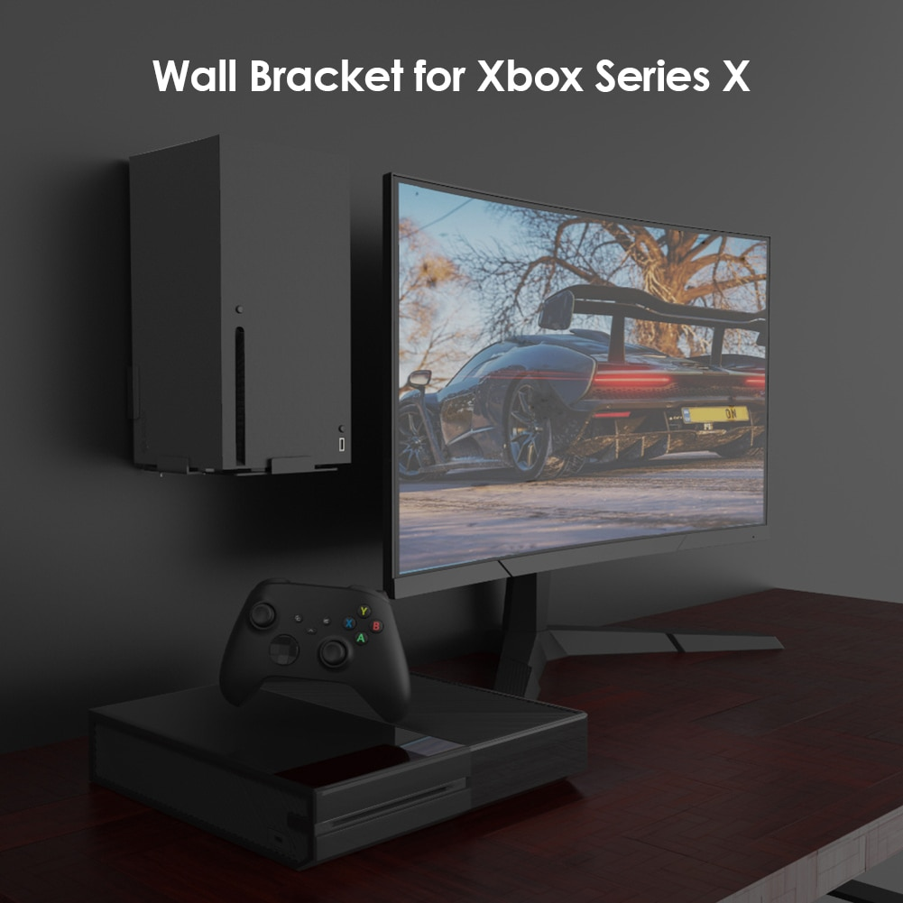 Storage Bracket Rack Accessories Game Vertical Entertainment for Xbox Series X Console Wall Mount Stand Holder