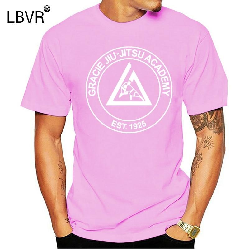 Gerade Oansatz Kurzarm T Hemd Homme T-shirt Männer Lustige Gracie Jiu Jitsu Academy Champ Logo Military T Shirts