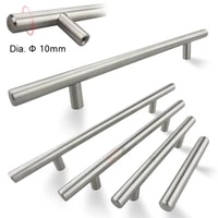 50mm to 500mm stainless steel kitchen door cabinet t bar handle pull knob cabinet knobs desk drawer handle cupboard drawer pulls
