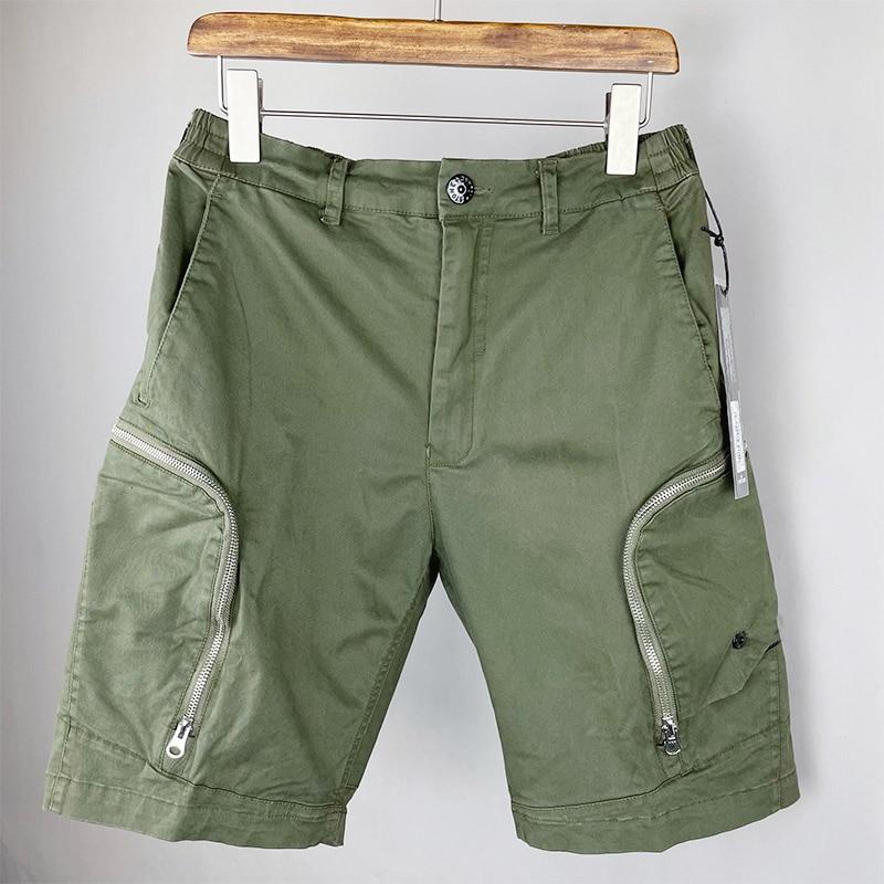 2021 Summer New Style Casual Multi-pocket Zipper Decoration Five-point Pants Trousers Men's  Women's Sports Pants