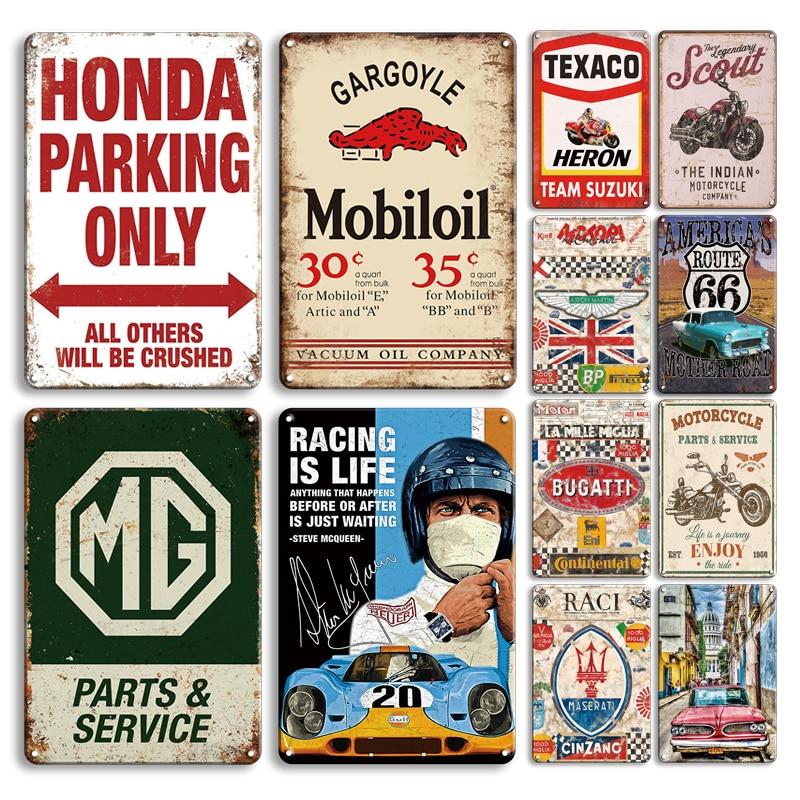 Americano mãe estrada estanho sinal do carro vintage poster metal plat retro estacionamento só adesivos de parede homem caverna garagem decoração placas Placas e avisos    -