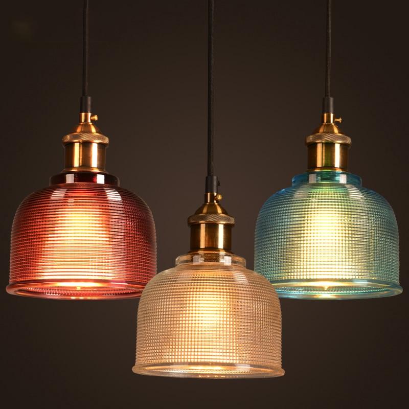 مصباح معلق نحاسي حديث ، تصميم إسكندنافي بسيط ، شفاف ، E27 ، إضاءة داخلية مزخرفة ، مصباح مطعم
