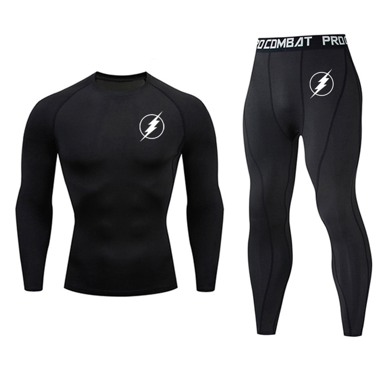 New Top quality The Flash clothing compression men underwear sets sweat quick drying thermal underwear men Sportswear clothing new mens boxers thermal underwear sets compression sweat quick drying thermo underwear men clothing long johns kits