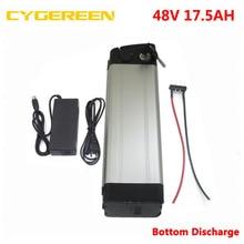 1000W 48V 17AH vélo électrique bateria 500W 48V 17.5AH argent poisson batterie pack INR18650 35E cellule 30A BMS gratuit droits de douane