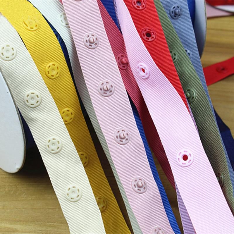 Botones de presión redondos de resina 3m, sujetadores de broche de presión de plástico, hebilla de cinturón para ropa de bebé, cinta para prenda de poliéster, accesorios