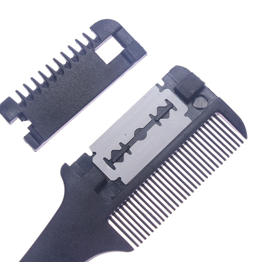 Профессиональная Бритва для волос, гребень с черной ручкой для бритья, стрижки, филировки, инструмент, аксессуары для укладки волос