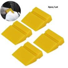FOSHIO 4 шт. 5 см силиконовый скребок Виниловая пленка для автомобиля резиновое лезвие для окон инструмент для очистки воды снег лед наклейка скребка для удаления