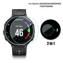 2 حزمة ل Garmin Forerunner 220 235 735XT ساعة واقي للشاشة اكسسوارات الزجاج المقسى ل Garmin 945 245