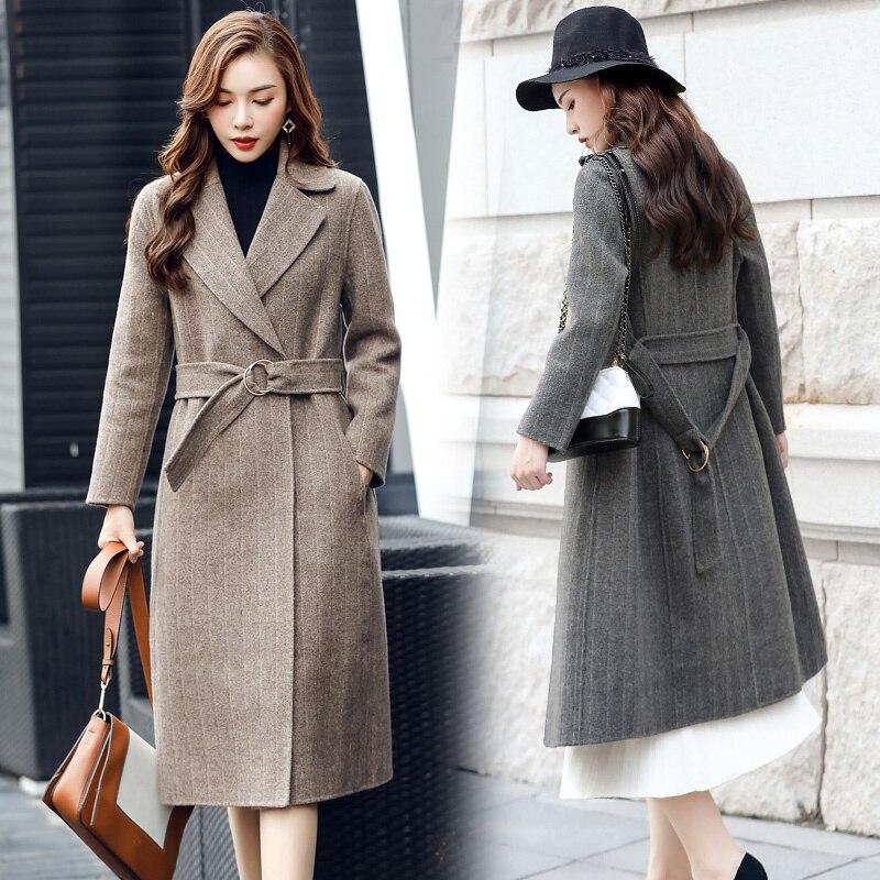 كماز Meiba الملابس 2021 الربيع والخريف جديد معطف من قماش الكشمير