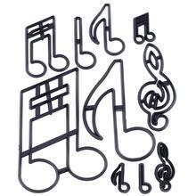 Cortador de galletas de nota de símbolo Musical, molde de plástico para cortar galletas, molde para hornear fruta, molde para pastel, estampado en relieve