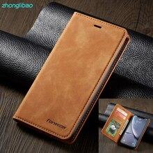 Étui de téléphone à rabat magnétique en cuir de luxe pour Iphone Xr 11 pro Xs Max X carte portefeuille support couverture pour Iphone 8 7 6 6s Plus 5 se 2020