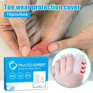 10Pcs Silicone Big Toe Protector Hole Tube Protect Thumb Calluses Blisters Foot Separators Care Tool Toe Wear Protection Cover