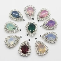 the new 10pcslot 1721mm diy rhinestone jewelryresin mix accessories for hand made new fashion shiny cabochon setting supplies