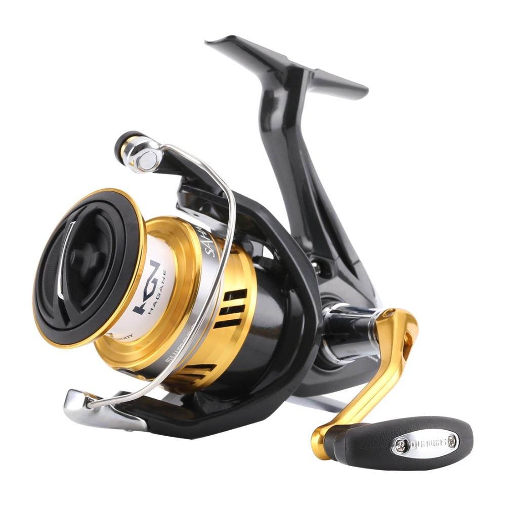 Carrete de pesca Original Shimano Spinning Fish Pole 5BB engranaje Hagane x-ship Saltewater carrete de pesca 1000 2500 C3000HG 4000XG C5000XG