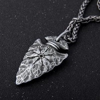 yage stainless steel chain with viking rune aegishjalmr spear pendant necklace as men gift